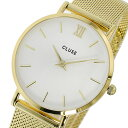 クルース CLUSE ミニュイ メッシュベルト 33mm レディース 腕時計 CL30010 ホワイト/ゴールド【S1】