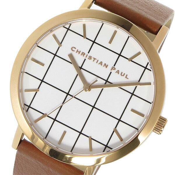 クリスチャンポール CHRISTIAN PAUL グリッド GRID AVALON ユニセックス 腕時計 GR-06 ホワイト【送料無料】【_包装】 【送料無料】【ラッピング無料】