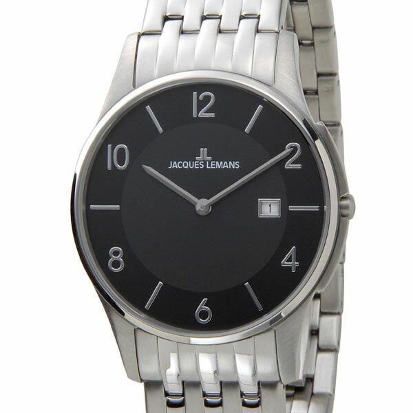 ジャックルマン ケビンコスナー アンバサダーモデル ロンドン デイト メンズ 腕時計 1-1781A ブラック【送料無料】【_包装】 【送料無料】【ラッピング無料】