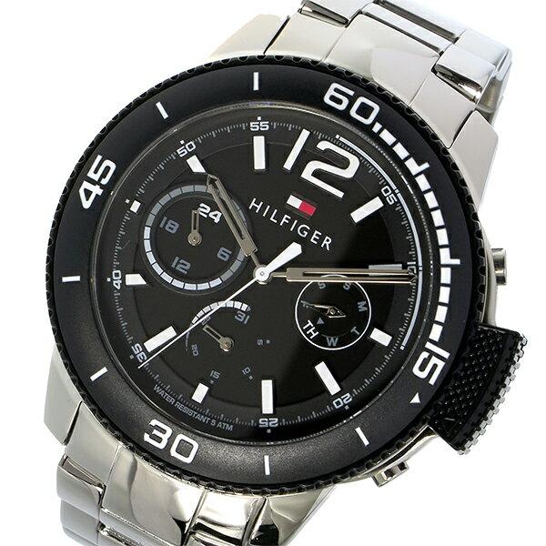 トミー ヒルフィガー TOMMY HILFIGER クオーツ メンズ 腕時計 1791317 ブラック【送料無料】【_包装】 【送料無料】【ラッピング無料】