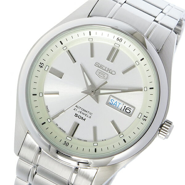 セイコー SEIKO セイコー5 自動巻き メンズ 腕時計 SNKN85J ホワイトシルバー【送料無料】【_包装】 【送料無料】【ラッピング無料】