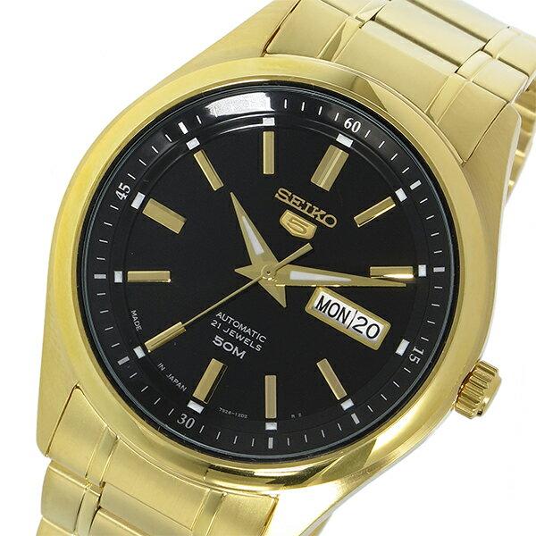 セイコー SEIKO セイコー5 自動巻き メンズ 腕時計 SNKN98J ブラック【送料無料】【_包装】 【送料無料】【ラッピング無料】