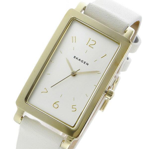 スカーゲン SKAGEN レクタンギュラー クオーツ レディース 腕時計 SKW2566 ホワイト【送料無料】【_包装】 【送料無料】【ラッピング無料】