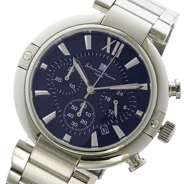 サルバトーレマーラ クロノ クオーツ メンズ 腕時計 SM17106-SSBL ブルー/シルバー【送料無料】【_包装】 【送料無料】【ラッピング無料】
