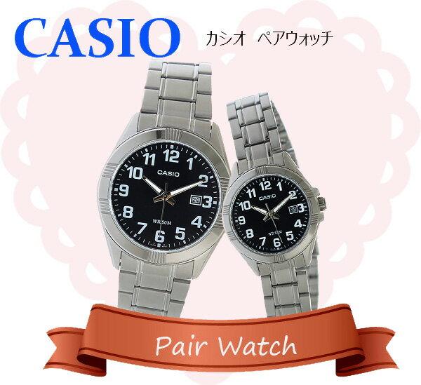 【ペアウォッチ】 カシオ CASIO チープカシオ ユニセックス 腕時計 時計 MTP-1308D-1B LTP-1308D-1B【楽ギフ_包装】