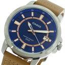 【希少逆輸入モデル】 カシオ CASIO クオーツ メンズ 腕時計 時計 MTP-E130L-2A2 ブルー/ライトブラウン