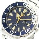 セイコー SEIKO 腕時計 メンズ SRPC51K1 セイコーファイブ スポーツ 自動巻き ブルー シルバー【送料無料】