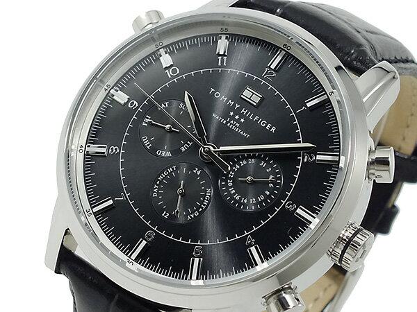 トミー ヒルフィガー TOMMY HILFIGER 腕時計 メンズ 1790875 ブラック【_包装】【送料無料】 【送料無料】【ラッピング無料】