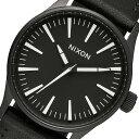 ニクソン NIXON Sentry 38 Leather クオーツ メンズ 腕時計 A377-000 ブラック【送料無料】【楽ギフ_包装】