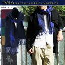 ポロ ラルフローレン POLO RALPH LAUREN マフラー 6F0351-433 ネイビー/ブルー【楽ギフ_包装】