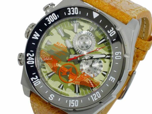アルファインダストリー ALPHA INDUSTRIES クオーツ メンズ クロノ 腕時計 AL-502M-02【_包装】【送料無料】 【送料無料】【ラッピング無料】