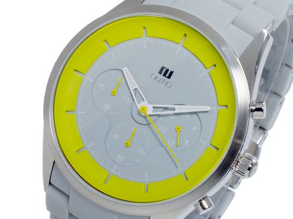 ヌーティッド NUTID CRATER クオーツ メンズ クロノ 腕時計 N-1404P-D GY/YE【送料無料】【_包装】 【送料無料】【ラッピング無料】