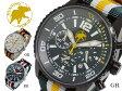 ハンティングワールド HUNTING WORLD ゼフィロ クオーツ クロノ メンズ 腕時計 替えベルト付 HW019GR【送料無料】【楽ギフ_包装】
