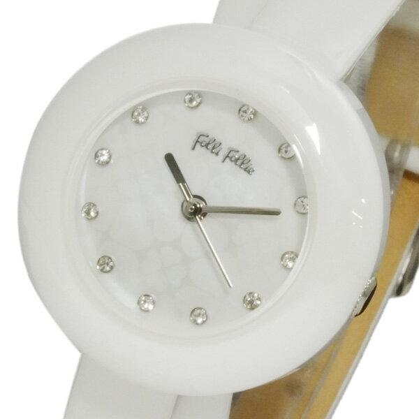 フォリフォリ FOLLI FOLLIE フォーハート レディース 腕時計 WF13F030SSW-WH【送料無料】【_包装】 【送料無料】【ラッピング無料】
