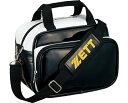 運動服飾 - ZETT(ゼット) エナメルミニバッグ BA5069 【カラー】ブラック×ホワイト