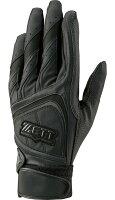ZETT(ゼット) バッティング手袋 高校生対応 両手用 BG447HS 【カラー】ブラック 【サイズ】Lの画像