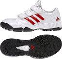 adidas(アディダス) adiPURE トレーナー2 K クリスタルホワイト パワーレッド シルバーメット S85377 240