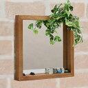 ボックスミラー 幅30 壁掛けミラー 壁掛け 鏡 木製フレーム ブラウン ホワイト アンティーク アンティーク調(代引不可)【送料無料】【smtb-f】
