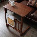 【送料無料】ウォルナット ヴィンテージ 塩インテリア マガジン収納 ラック 収納 サイドテーブル ナイトテーブル