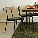ダイニングチェア カフェチェア カフェ チェア 椅子 アイアン 無垢 レトロ ビンテージ