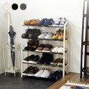 【送料無料】シューズラック 5段 収納 靴箱 シューズボックス 下駄箱 薄型 スリム 靴入れ シューズbox 一人暮らし
