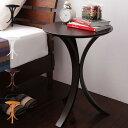 天然木 サイドテーブル サブテーブル コンソール ナイトテーブル ブラック ホワイト