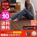 ラグ マット 発熱あったかラグ 正方形(185cm×185cm) HeatWarm ヒートウォーム【送料無料】【ポイント10倍】