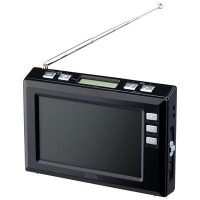 YAZAWA(ヤザワコーポレーション) TV03BK YAZAWA(ヤザワコーポレーション) 4.3インチディスプレイ ワンセグラジオ(ブラック) TV03BK
