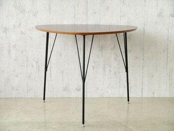 ダイニングテーブル DT-コリナ(き)【送料無料】 【送料無料】丸形デザイン 三角形の北欧風 ダイニングテーブル
