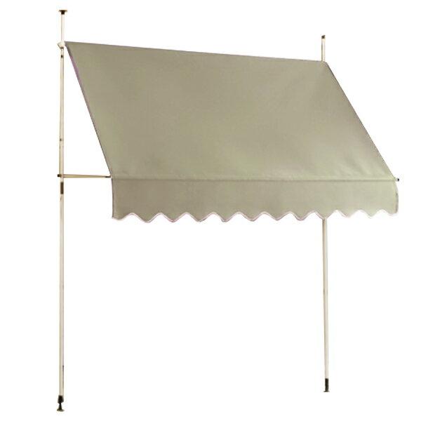 つっぱりオーニングテント2M日よけスクリーンつっぱり式雨よけガーデニングエクステリア(代引不可)送料