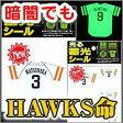 福岡ソフトバンクホークス蓄光シール 選手2枚セット 松中(3)