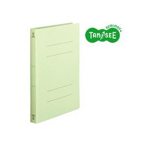 (まとめ)TANOSEE フラットファイル[厚とじW]A4タテ 250枚収容 緑 10冊入×20パック