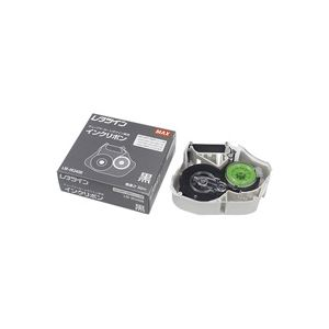 (まとめ買い)マックス インクリボン LM-IR340B 【×7セット】 ラベルプリンター ライター用テープカートリッジ シール印刷
