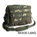 US軍 防水布使用A4対応MOLLショルダーバック BS076YN ウッドランド 【レプリカ】