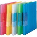 (業務用100セット) ビュートン スリムクリヤーブック クリアブック40P FCB-A4-40C 青 ×100セット