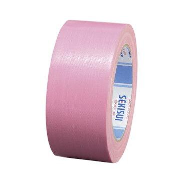 (業務用セット) セキスイ カラー布テープ廉価版 No.600Vカラー N60PV03 ピンク 1巻入 【×10セット】
