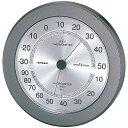 エンペックス気象計 スーパーEX高品質湿・温度計メタリックグレー EX-2737