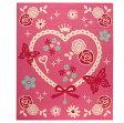 ショッピング学習机 デスクカーペット 女の子 エハート柄 『キャリー ツー』 ピンク 110×133cm