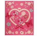 デスクカーペット 女の子 エハート柄 『キャリー ツー』 ピンク 110×133cm【あす楽対応】【S1】