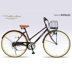マイパラス自転車シティサイクルMyPallas/マイパラスシティサイクル自転車26インチM-5016段変速(代引き不可)【送料無料】【smtb-F】【RCP】