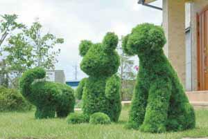 アートグリーン 人工観葉植物 光触媒 光の楽園 ゾウ(代引き不可)【送料無料】【S1】