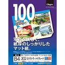 Digio カラーインクジェット用紙/エクストラ・ハイグレード マット/厚口 B4/100枚 JPXG-B4N/A ナカバヤシ