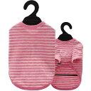 ベリー コットンTシャツ 4号 ボーダー ピンク(1枚入)
