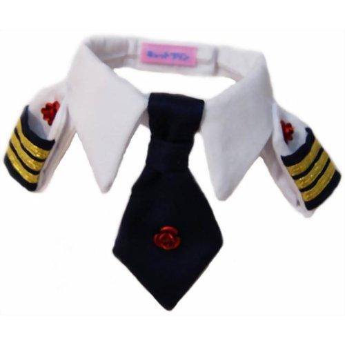 レディースにゃん襟章ネクタイシャツ ローズの商品画像
