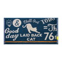 乐天商城 - Nekosulu? フェイスタオル 約34×70cm Laidback Cat タオル類