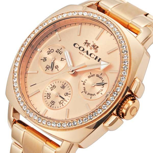 コーチ COACH ボーイフレンド クオーツ レディース 腕時計 時計 CO14502081 ローズ【_包装】 【ラッピング無料】【品質があります。】