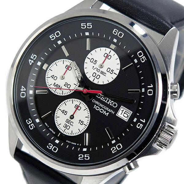 セイコー SEIKO クオーツ メンズ クロノ 腕時計 時計 SKS485P1 ブラック【_包装】 【ラッピング無料】カシオ 腕時計 おすすめ
