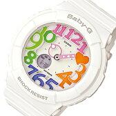 カシオ ベビーG ネオンダイアルシリーズ レディース 腕時計 時計 BGA-131-7B3 ホワイト【楽ギフ_包装】