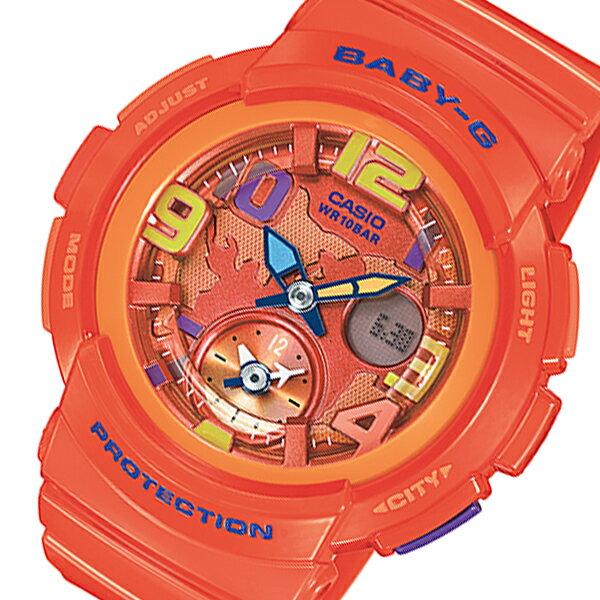 カシオ ベビーG ビーチトラベラーシリーズ レディース 腕時計 時計 BGA-190-4B オレンジ【_包装】 【ラッピング無料】