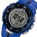 カシオ CASIO プロトレック 電波 タフソーラー メンズ 腕時計 時計 PRW-3000-2B ブルー
